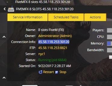 FiveMFX server manager mod