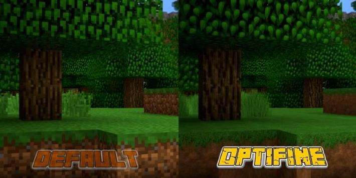 Comparison on Default vs Optifine