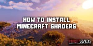 Minecraft shaders installation guide